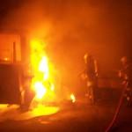 Brand eines Baufahrzeuges