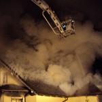 Dachstuhlbrand eines Einfamilienhauses